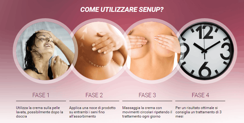 come applicare la crema sen up seno